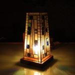 ビンテージグラスを使用した行燈02/わたなべ工房制作