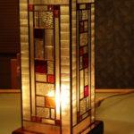 ビンテージガラスの行燈/わたなべ工房制作